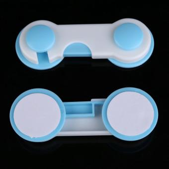 10pcs Set Door Drawers Wardrobe Todder Kids Baby Safety PlasticLock Blue - 2
