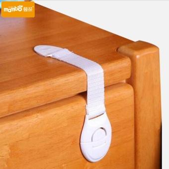10Pcs/Lot Child Lock Protection Of Children Locking Doors For Children's Safety Kids Safety Plastic Lock For Child - intl - 2