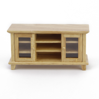 1:12 Dollhouse Miniature Wooden TV Cabinet