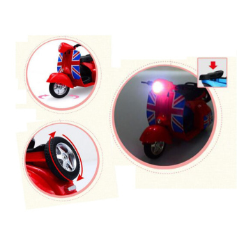 1:14 Scale Mini Diecast Vespa Scooter Motorcycles with Light&Sounds-Blue - 3