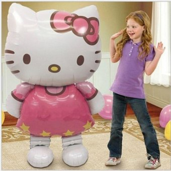 116*65cm Hello Kitty Large Helium Mylar Balloons for Christmas Party Baby's Birthday Balls - intl - picture 2