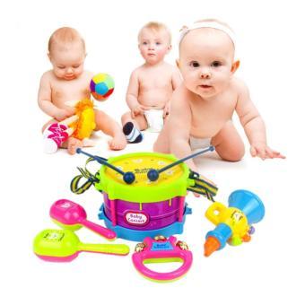 11PCS/Set Baby Intelligence Toys Rattles and Teether Jingle BallRing Baby Rattles Toys - intl - 3