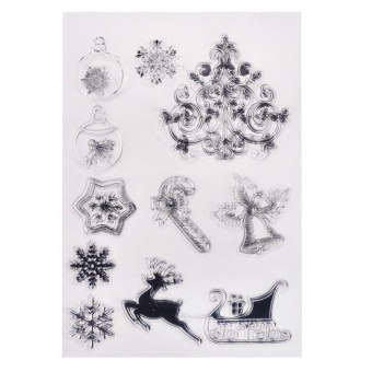 11x16cm Transparent Clear Stamp/Seal For DIY Scrapbooking/Decorative Clear Stamp Sheets Christmas Series YC69 - intl - picture 2