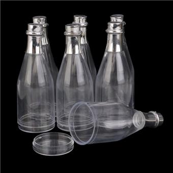 12pcs Champagne Bottles Candy Bottle Box Shower Party Favors (Transparent) - 2