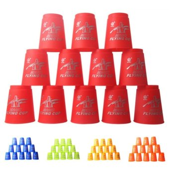 12Pcs Speed Stacks Sport Flying Stacking Rapid Luminous Cups - intl
