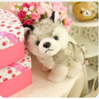 18CM Kawaii Simulation Husky Dog Plush Toy Gift For Kids StuffedPlush Toy New Arrival - intl - 2