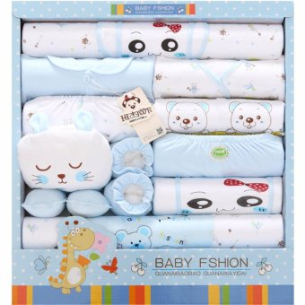 18pcs/set Newborn Babies Cotton Clothing Baby Boys Girls PrintSuits Toddlers Clothes + Accessories - intl - 3