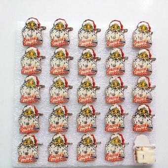 1PCS Christmas LED Flash Light Brooch Pin Badge Light Up Toys,Santa with Cake - intl