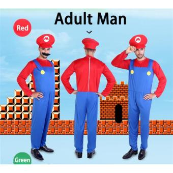 (1Set Adult Size L 175-185CM-Green)Funy Cosplay Party Dress Up Super Mario Adult Halloween Costumes for Men Women - intl - 4