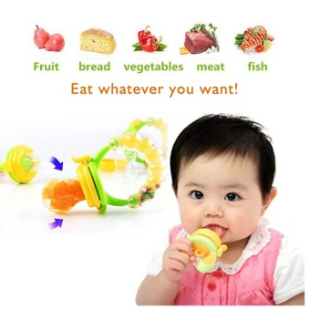 2 Pcs (L:6 Months and Up) Baby Fruits Feeding Food PacifierSilicone Kids Juice Feeding Teethers Nipple - intl - 5