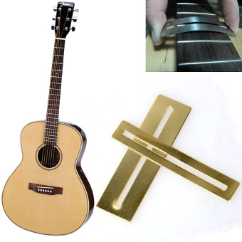 2 pcs/set Bendable Stainless Steel Fretboard Fret Protector Fingerboard Guards For Guitar Bass Luthier Tool Tools Top Quality (Color: Gold) - intl