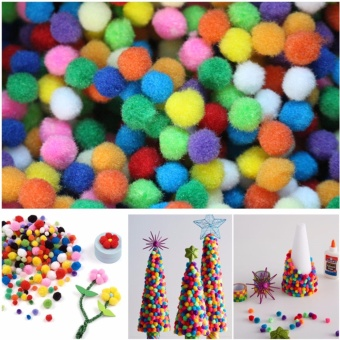 2000 pcs 10mm Multicolor Pompoms Soft Pom Poms balls for ChildrenDIY creative Toy home decor Wedding Decoration Accessories - intl