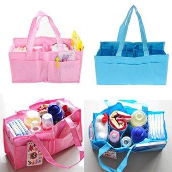 2017 practical pregnant woman handbag portable packet baby diapersdiaper change bag milk bottle locker inner container blue pink -intl - 2