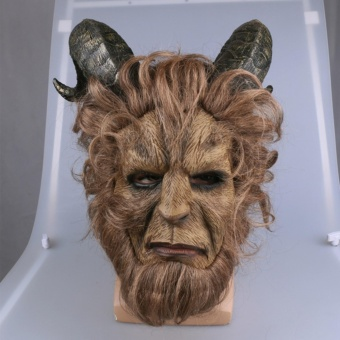 2017 The Latest Film Beauty And The Beast Cosplay MASK Beast PrinceCosplay Headgear - intl
