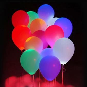 20Pcs/pack Glow In The Dark Lanterns Globos Party Baloons Led Flash Balloons Illuminated LED Balloon Wedding Birthday Decoration - intl - 5