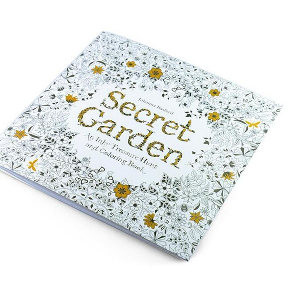 24 Pages Secret Garden English Version Decompression Andhand Painted Color Coloring Book The Magic Forest