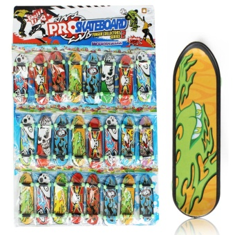 "24pcs/Pack Fingerboards Finger Board Deck Skateboard 3.94"" Mini Kids Games Toys - intl"