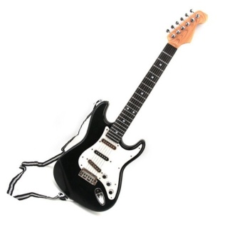 25inch Children's Electric Guitar 6 Strings For kids Musical ToysGuitar Gifts(color:Black) - Intl