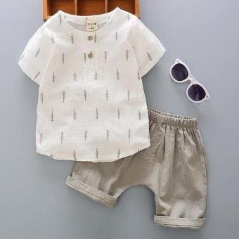 2PC Baby Boys Clothes Infant Toddler Boy Clothing Tee Shirt + PantsOutfits Sets - intl Price Philippines