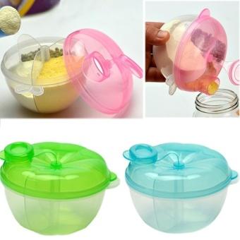 2Pcs Food Storage Container 3-Layer Milk Powder Box Baby Feeding - intl - 4