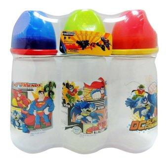 3 pack 14oz DC Super Friends Wideneck Feeding Bottle