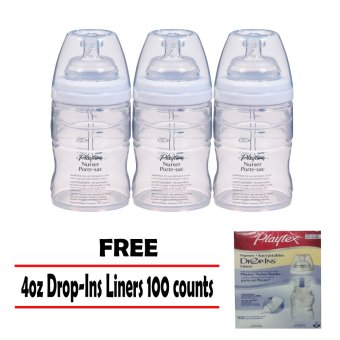 3 Playtex Drop-Ins Nurser Bottle 4oz with Free 100ct Drop-Ins Liners Price Philippines