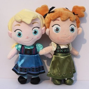 30cm Childhood Princess Plush Toddler Elsa Anna Baby Plush StuffedSoft Toy Brinquedos Kids Dolls For Girls - intl Price Philippines