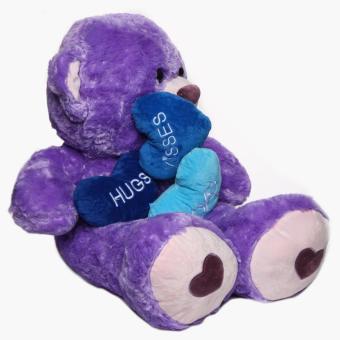 36-inch Purple Bear with 3 hearts - 3