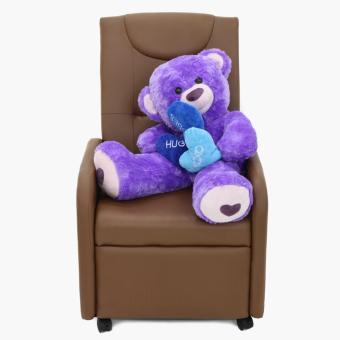 36-inch Purple Bear with 3 hearts - 4