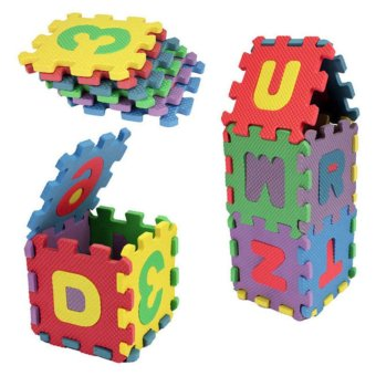 36 pcs Baby Kids Alphanumeric Educational Puzzle Blocks Infant PlayMat Child Toy Gifts - intl - 2