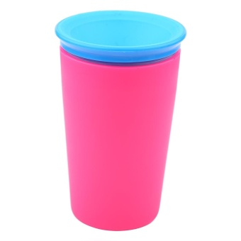 360 Degree Infant Baby Anti-Spill Water Drinking Cup Kids JuiceTrainer Drink Bottle (Rose Red) - intl