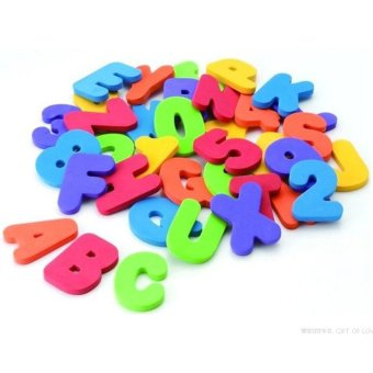 36pcs Educational Floating Bath Letters & Numbers stick on Bathroom Toy (Intl)