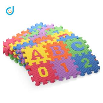 36Pcs Soft EVA Foam Baby Kids Play Mat Alphabet Number Puzzle Jigsaw 15x15cm