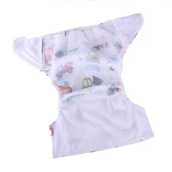 3Pcs Newborn Baby Nappy Adjustable Washable Diaper Cover Breathable Reusable Cloth Suit For 0-2 Years - intl - 4