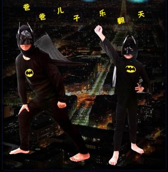 3PCS Top+Pants+Mask Cosplay Batman Halloween Costumes for Kids Boys(Size L Height 125-140CM) - intl - 4
