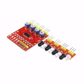 4 Channel Infrared Line Tracing and Obstacle Avoidance SensorModule for Arduino (Red) - 2