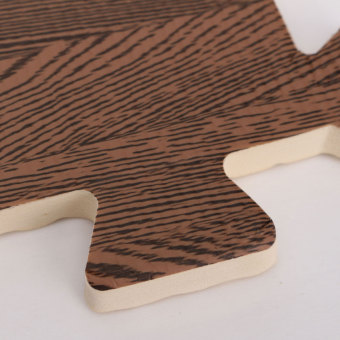 45PCS Wood Interlock EVA Foam Floor Puzzle Pad Work Gym Mat Kid Safety Play Rug - 5