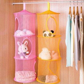 4ever 2pcs 3 Shelf Hanging Storage Net Kids Toy Organizer BagBedroom Wall Door Closet - intl - 3