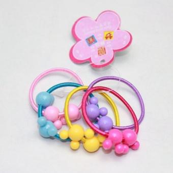 50 Pcs Assorted Elastic Rubber Hair Rope Band Ponytail Holder ForKids Girl - intl - 2