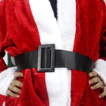 5pcs Adult Men Christmas Santa Claus Costume Suit Outfit One Size - picture 2
