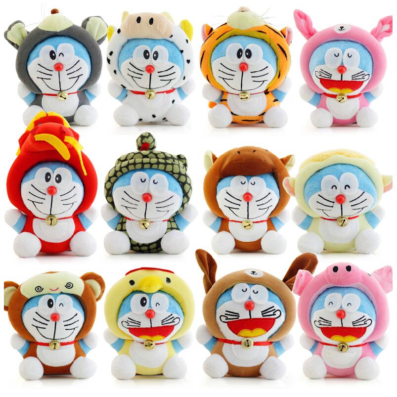 Philippines 7 12pcslot Twelve Zodiac Doraemon Plush Doll Cute