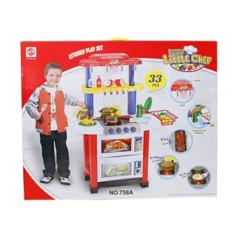 758 Kitchen Play Set 33pcs (Red)