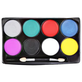 8 Color Environmental Protection Non-toxic Water Makeup Face Halloween Paint Color Devil Fans - 4