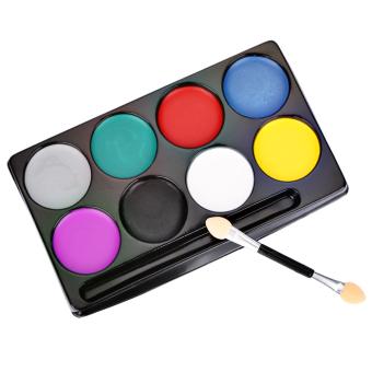 8 Color Environmental Protection Non-toxic Water Makeup Face Halloween Paint Color Devil Fans - 2