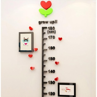 Acrylic Child Height Decor Kids Room Growth Chart Measure Wall Stickers (1.6 meters) - intl - 4