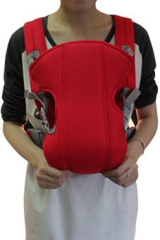 Adjustable Infant Baby Carrier Newborn Kid Sling Wrap Rider Backpack Baby Sling (Red)