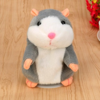 Adorable Interesting Speak Talking Record Hamster Mouse Plush KidsToys - intl