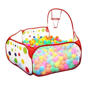 Allwin Polka Dot Pattern Foldable Kids Play House Tent Outdoor&Indoor Basketball Tent Multicolor - intl - 2