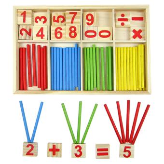 Amango Wooden Mathematics Material Counting Toy random