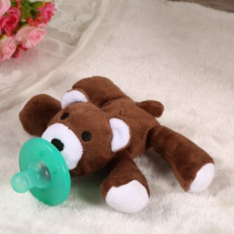 Animal Design Pacifier Silicone Baby Soother # Little Bear - intl - 2